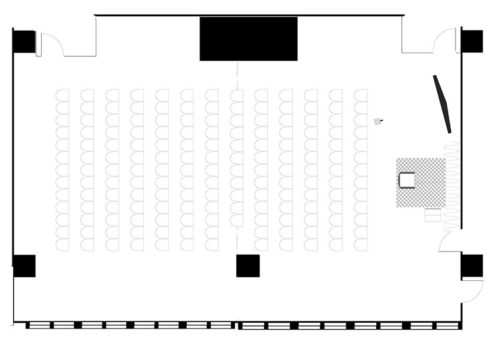 Rooms 603-604, theatre for 160