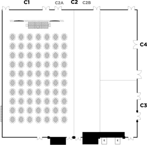 Convention Hall C1-C2(A), rounds (ovals) for 700